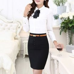 Caroe - Set: Dress Shirt + Pencil Skirt