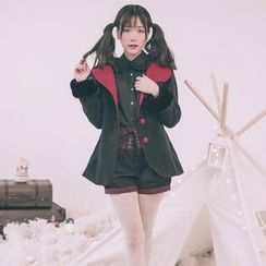 dollydelly - Pom Pom Hooded Coat