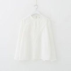 Meimei - 蕾絲拼接襯衫