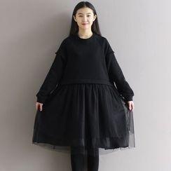 Queen Bee - Mesh Panel Knit Dress