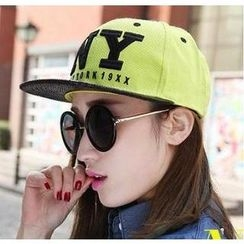 GreatMay - Embroidered Snake Print Panel Baseball Cap