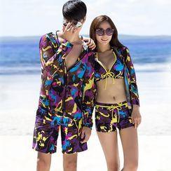 rosiwini - Printed Bikini / Swim Shorts / Cover Jacket