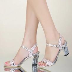MANMANNI - Genuine Leather High Heel Sandals