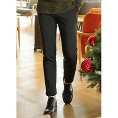 JOGUNSHOP - Fleece-Lined Slim-Fit Pants