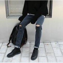 Bestrooy - Slit Slim-Fit Jeans