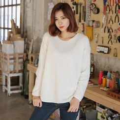 Envy Look - Round-Neck Colored Fleece Top