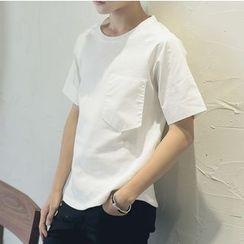 V37 - Short-Sleeve Pocketed T-Shirt