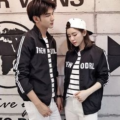 Lovebirds - Lettering Zip Couple Jacket