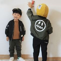 Bear Town - Kids Smiley Baseball Jacket