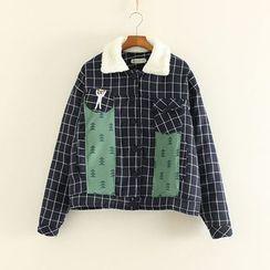 三木社 - 格紋夾棉夾克