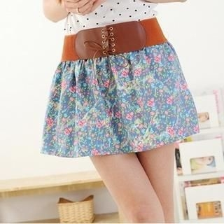 Maymaylu Dreams - Floral Print Belted Skirt