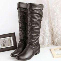 Pangmama - Faux-Leather Tall Boots