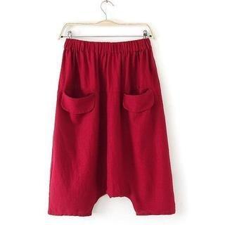 JVL - Drop-Crotch Cropped Pants