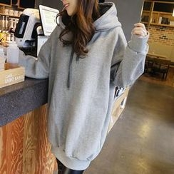 NANING9 - Cotton Oversized Hooded Pullover