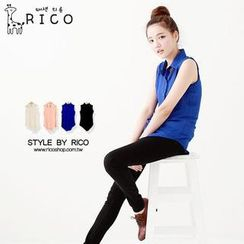rico - Sleeveless Chiffon Shirt
