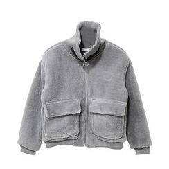 Mr. Cai - Buckled Fleece Zip Jacket