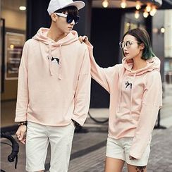 Evolu Fashion - Dog Print Matching Couple Hoodie