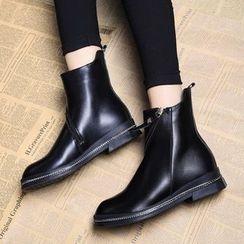 Wello - 斜拉鏈短靴