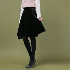 Styleberry - Velvet A-Line Skirt