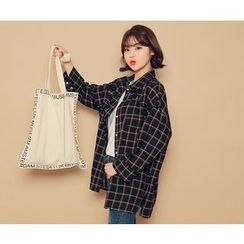 HOTPING - Flap-Pocket Plaid Shirt
