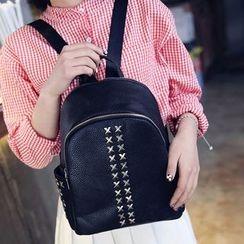 Secret Garden - Cross Stud Faux Leather Backpack