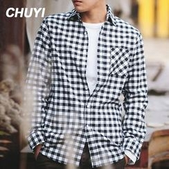 Chuoku - Gingham Long-Sleeve Shirt
