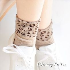 CherryTuTu - Leopard Print Socks