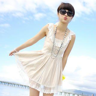 59 Seconds - Lace Collar Tea Dress