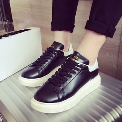 JUN.LEE - Platform Lace-Up Sneakers