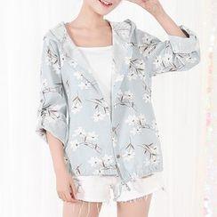 Fairyland - Floral Print Hooded Jacket