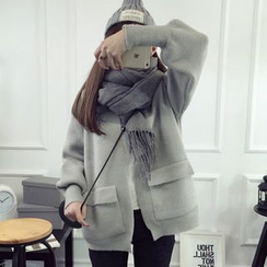 FR - Open Front Knit Jacket