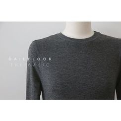 DAILY LOOK - Round-Neck Plain Top