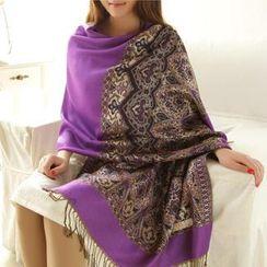 羚羊早安 - 流蘇印花圍巾