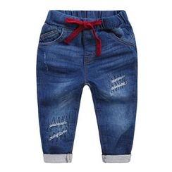 lalalove - Kids Drawstring Jeans