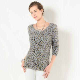 59 Seconds - Leopard Print Furry Sweater