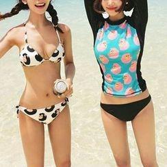 LANYI - Printed Bikini / Rashguard