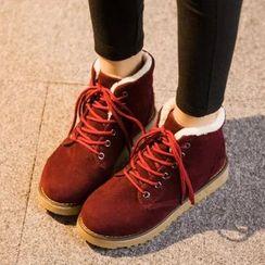 Sunsteps - Fleece Lined Lace Up Short Boots