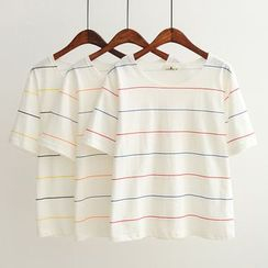 Aigan - Short-Sleeve Striped T-Shirt
