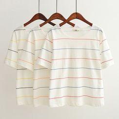 Aigan - Short-Sleeve Striped T-Shirt