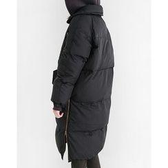 Someday, if - Funnel-Neck Long Padded Coat