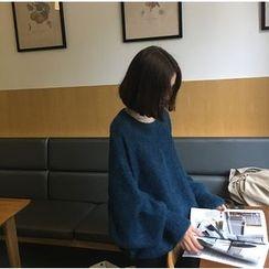 ALIN STYLE - 蝙蝠袖粗針織毛衣