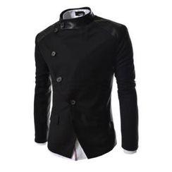 SEOBEAN - Mandarin-Collar Diagonal-Front Blazer