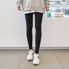 Seoul Fashion - Brushed-Fleece Leggings