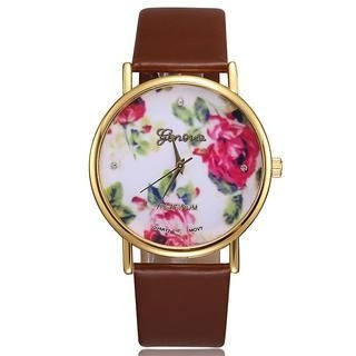Miss Girl - Printed Faux-Leather Strap Watch