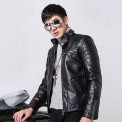 2RZ - Faux-Leather Fleece-Lined Jacket