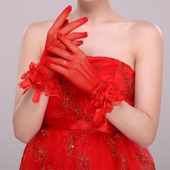 Suaylla - Flower Wedding Gloves