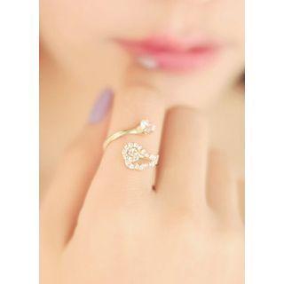 kitsch island - Rhinestone Wing Ring