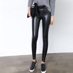 DORRIE - Faux Leather Leggings