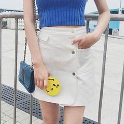 Jolly Club - Buttoned A-Line Skirt