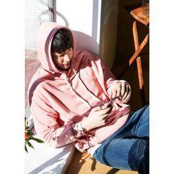 GERIO - Hooded Kangaroo-Pocket Pullover